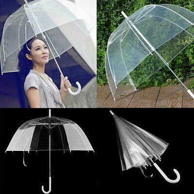 Clear Transparent Rain Umbrella Parasol PVC Dome for Wedding Party Favor SG