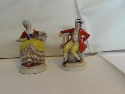 Finely Detailed Matching Figurines Made In Occupied Japan