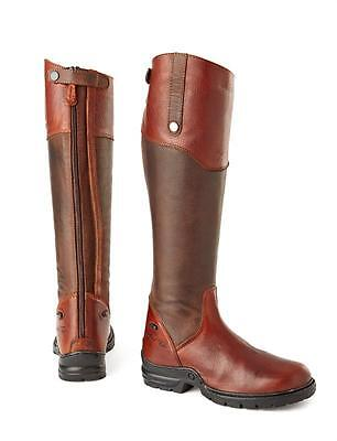 Mark Todd Riley Long Leather Riding Boots Brown Size 4