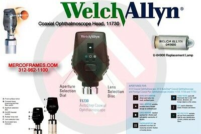 (WELCH ALLYN) 3.5V COAXIAL OPHTHALMOSCOPE #11720 New In Box