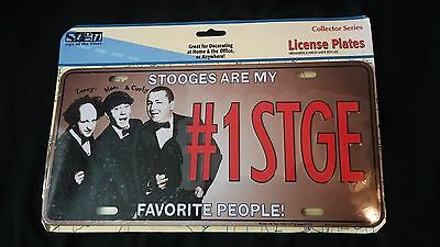 #1 STGE The Three Stooges  Novelty License Plate New Collector Series