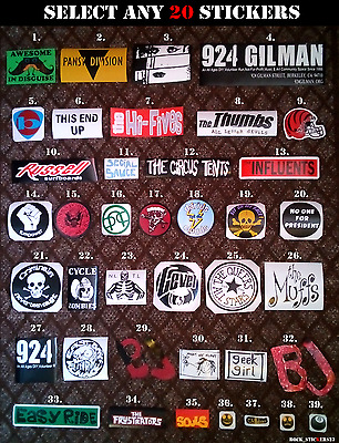 Choose Any 20 Billie Joe guitar stickers Just $29 Green Day BJ  All versions