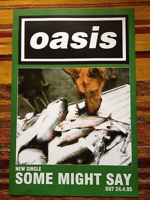 Oasis - Some Might Say - Original UK Promo Poster 1995