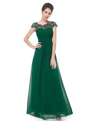 Women's Bridesmaid Lace Long Maxi Evening Formal Party Dress Gown 09993 Size 12