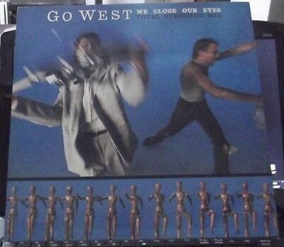 """Go West We Close Our Eyes (Total Overhang Mix) 2 track 12"""" CHS 12 2850"""