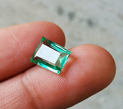 2.80 Ct Natural Emerald Shape Top Green Colombian Emerald Loose Gemstone