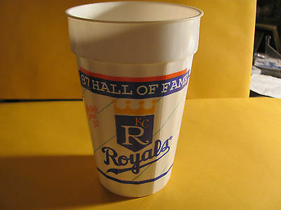 KANSAS CITY ROYALS 1987 HALL OF FAME soda cup  PAUL SPLITTORFF AND COOKIE ROJAS