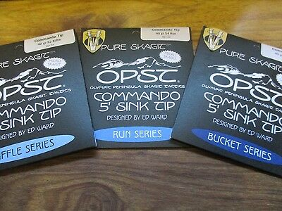 OPST Pure Micro Skagit Commando 5 Foot Sink Tips Bucket Run & Riffle Series