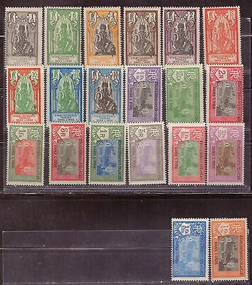 1929 French colony stamps, India, full set MH, SC 80-99
