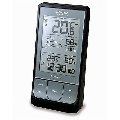 Oregon Scientific BAR218HG Wireless Indoor/Outdoor Thermo Hygrometer with Blu...