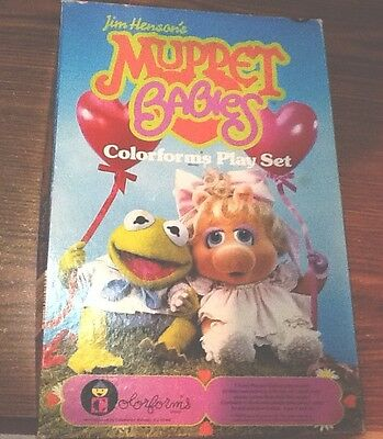Jim Henson's Vintage Muppet Babies COLORFORMS PLAY SET Nursery Scene 1984
