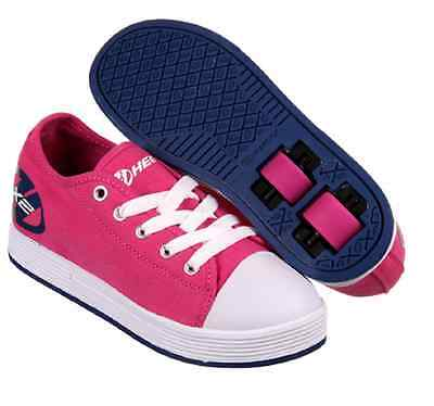Heelys X2 Fresh Skate Shoes - Fuchsia/Navy - Trainers Wheels Pink 770496K