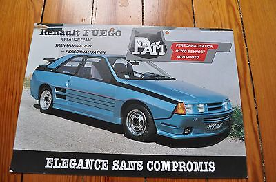 Brochure Prospekt Prospectus Dépliant Tuning PAM RENAULT FUEGO French