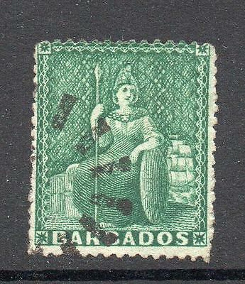 Barbados 1/2 Penny Green Stamp c1873 Used
