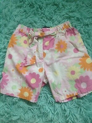 Mini Boden Shorts Age 5-6 Years pink and funky flowers