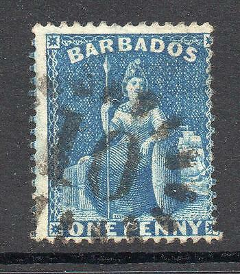 Barbados 1 Penny Stamp c1874-75 Used