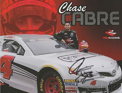 2017 Chase Cabre signed Rev Racing Toyota Camry NASCAR K&N postcard