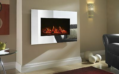 Shrewsbury LED Wall Mounted Electric Fire - Mirror