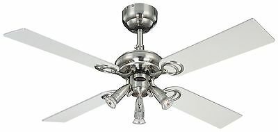 Westinghouse Pearl 105 cm/ 42-inches Ceiling Fans Stainless Steel-Light Maple...