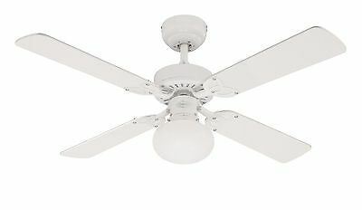 Westinghouse Vegas 105 cm/ 42-inches Ceiling Fans White-White/ Washed Pine