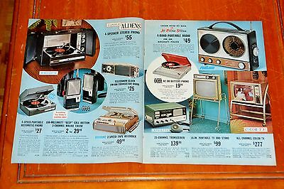 1967 Aldens Catalog Furniture Electronics Appliances Clothing Recreational 60S