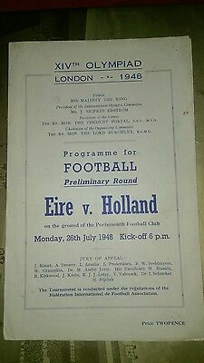ireland (eire) v holland 1948 london olympics