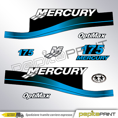 KIT Adesivi motore MERCURY 175 cv fourstroke/efi/optimax/saltwater plastificati