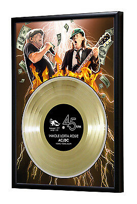 Acdc Whole Lotta Rosie Framed Gold Disc Display ( A4 Size )