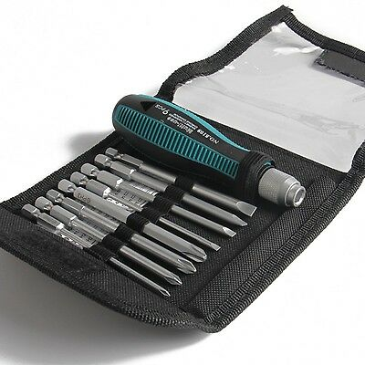Hand Tool Set  Mechanics Piece New Case Screwdrivers Phillips Wrench Magnetic