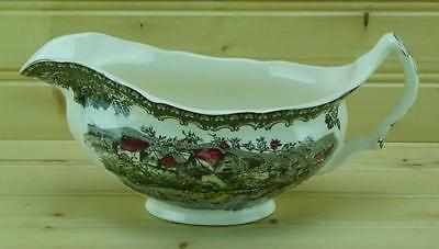 Johnson Brothers FRIENDLY VILLAGE Gravy Boat | Made in England - Crazing