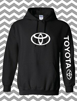 Toyota Chest and Arm Hoodie Stylehooded Sweatshirt