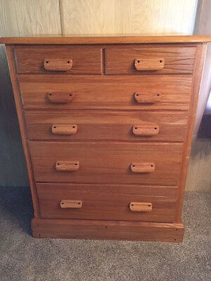 Vintage A. Brandt Ranch Oak Chest Of Drawers