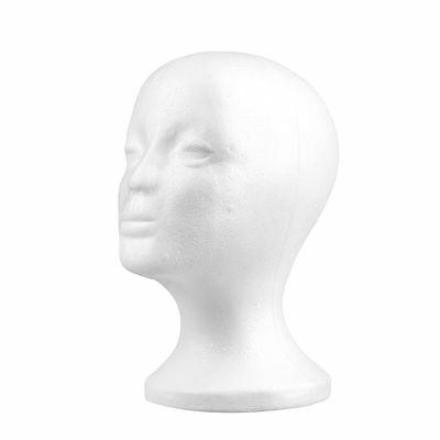 Styrofoam Foam Mannequin Female Head Model Dummy Wig Glasses Hat Display SG