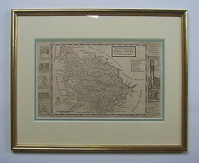 Yorkshire West Riding: antique map by Hermann Moll, 1724/31