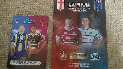 World Club Challenge Rugby League Programmes 2017