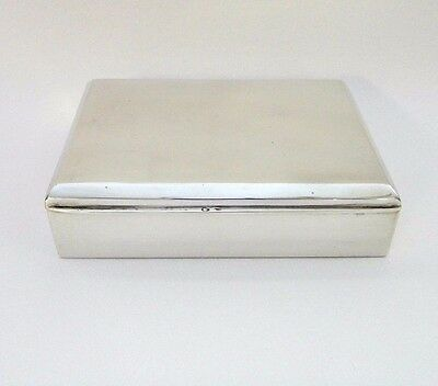 Large Vintage 800 Silver Wood Lined Cigarette Case~Jewelry Box~Hungary 1937-65