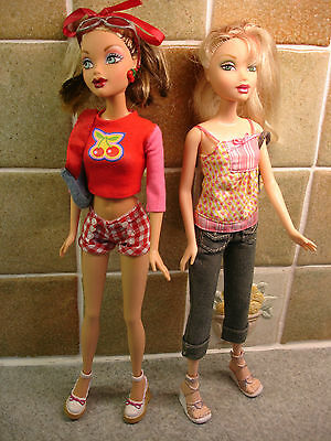 2 Stunning 30cm Barbie My Scene Dolls  Complete with Accessories