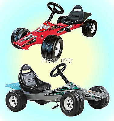 Childrens Pedal Powered Racing Car Go Karts