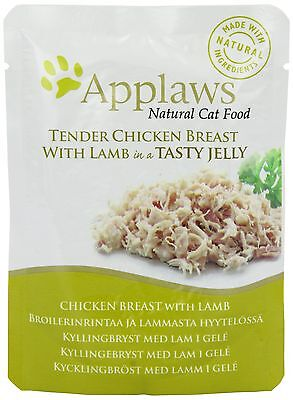 Applaws Cat Food Jelly Pouch Chicken with Lamb 70g Pack of 16