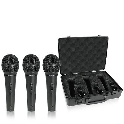 Behringer XM1800S Ultravoice Dynamic Microphone (Pack of 3)(color may slightl...