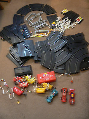 Vintage Scalextric Type Speed King & Slotrix Job Lot Track Cars Accessories
