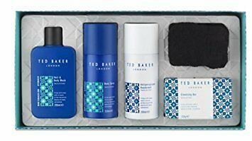 New TED BAKER Men Chalk Farm Collection Gift Set Wash Spray Deodorant Soap Cloth