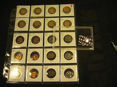 20 Unc Coins 1959 To 1966 With Silver Proof 2008-S Dime
