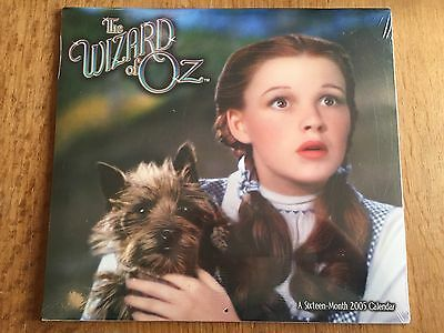 The Wizard of Oz Calendar 2005 Sealed Collectible