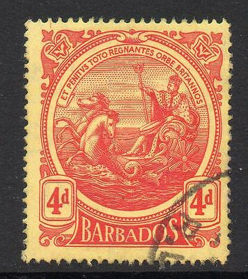 Barbados 4d Stamp c1916-18 Used