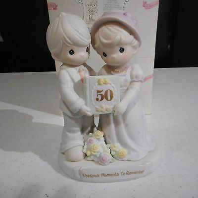 Precious Moments To Remember Figurine To Have & to Hold 50th Anniversary 163848
