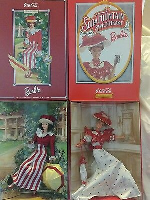 Coca-Cola Barbie Soda Fountain Sweetheart and After the Walk with shippers