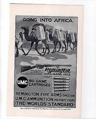 1910 Magazine Ad for Remington Fire Arms.  The ad is for the Remington Autoloadi