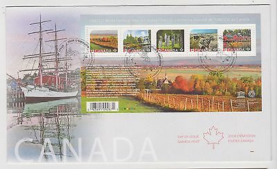 2016 Canada FDC UNESCO 5 Stamps Souvenir Sheet First Day Cover Heritage Sites