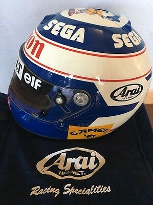 ALAIN PROST 1993 HELMET Replica Numbered 04/12 & Signed (Full Size 1:1 Scale)